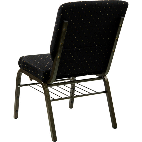 Multipurpose Church Chair Black Dot Fabric Church Chair