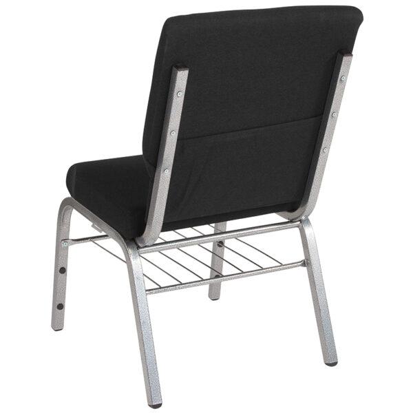 Multipurpose Church Chair Black Fabric Church Chair