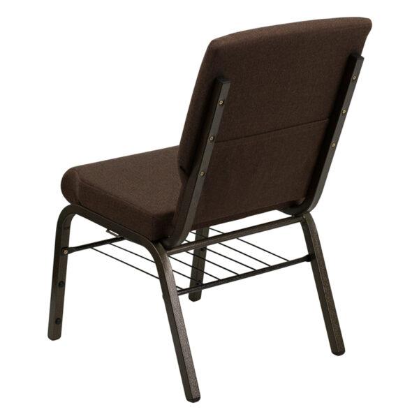 Multipurpose Church Chair Brown Fabric Church Chair