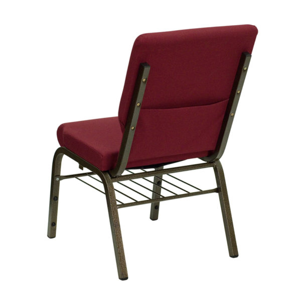 Multipurpose Church Chair Burgundy Fabric Church Chair