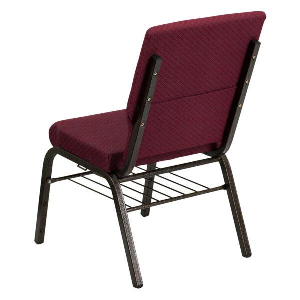 Multipurpose Church Chair Burgundy Fabric Church Chair