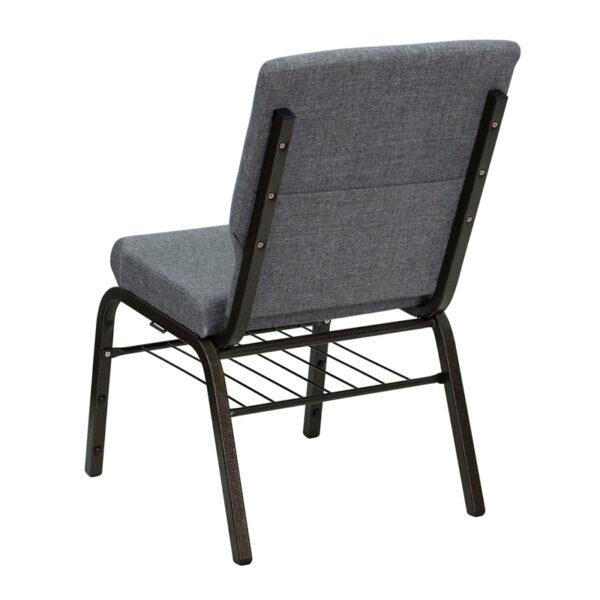 Multipurpose Church Chair Gray Fabric Church Chair