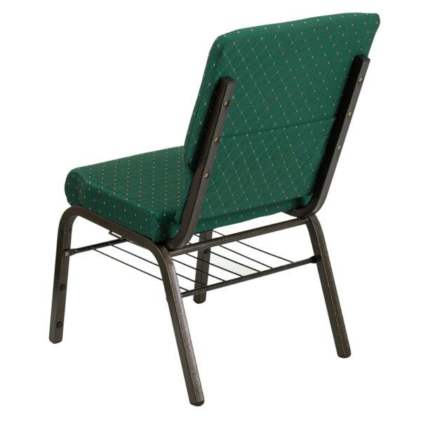 Multipurpose Church Chair Green Fabric Church Chair