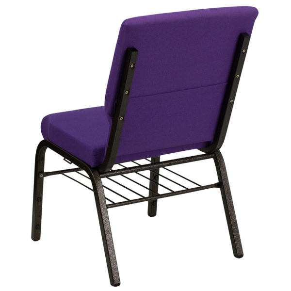 Multipurpose Church Chair Purple Fabric Church Chair
