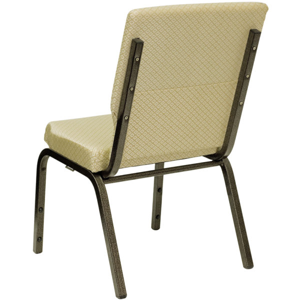 Multipurpose Church Chair Beige Fabric Church Chair