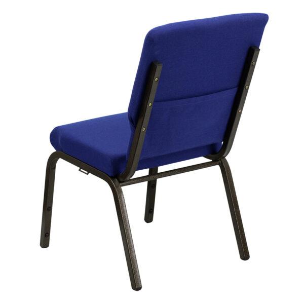 Multipurpose Church Chair Blue Fabric Church Chair