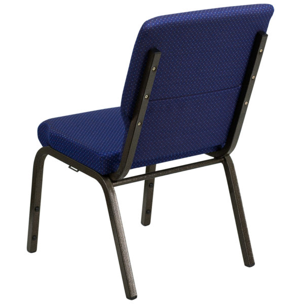 Multipurpose Church Chair Blue Fabric Church Chair