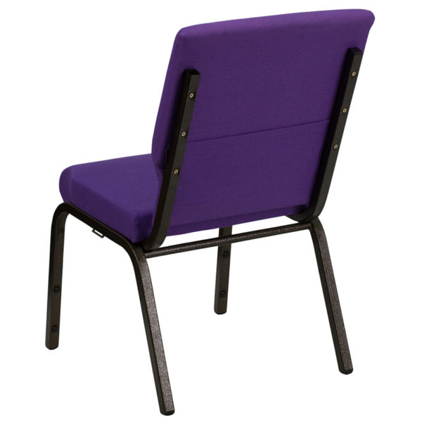 Multipurpose Church Chair Purple Fabric Church Chair
