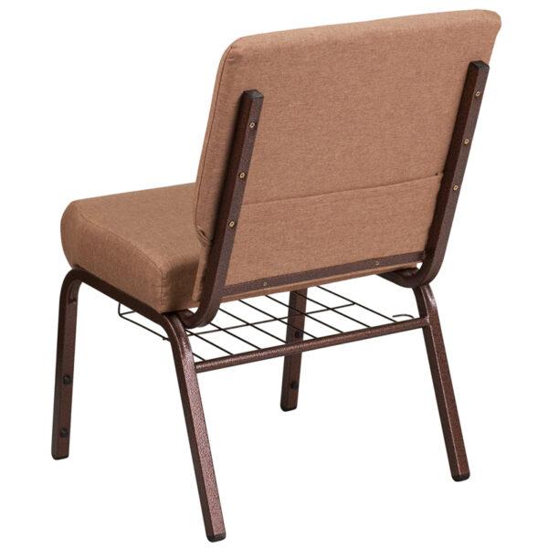 Multipurpose Church Chair Caramel Fabric Church Chair
