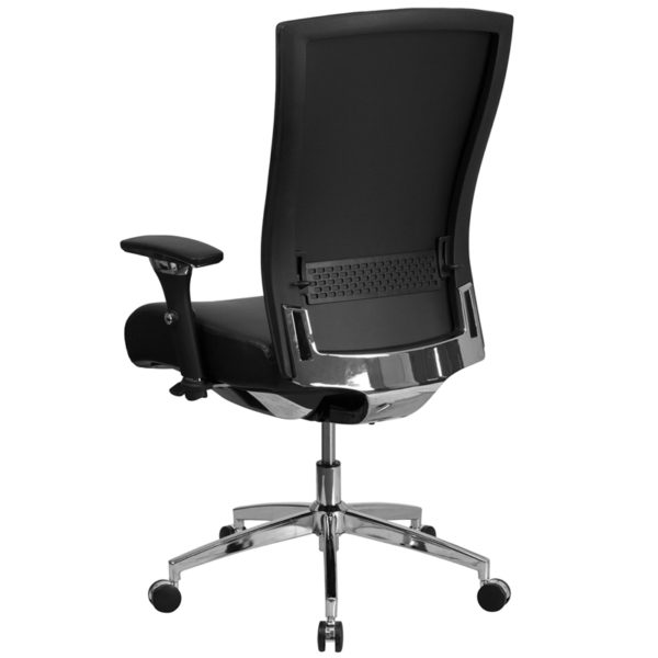 Contemporary 24/7 Multi-Shift Use Office Chair Black 24/7 High Back-300LB