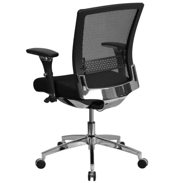 Contemporary 24/7 Multi-Shift Use Office Chair Black 24/7 Mesh Mid-Back-300LB
