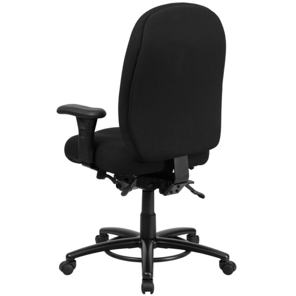 Contemporary 24/7 Multi-Shift Use Office Chair Black 24/7 Use High Back-350LB