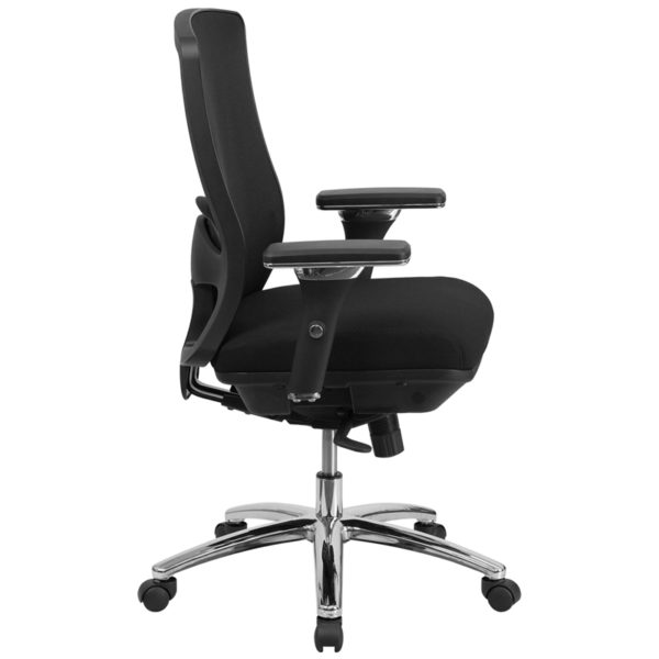 Contemporary 24/7 Multi-Shift Use Office Chair Black 24/7 Use Mid-Back-350LB