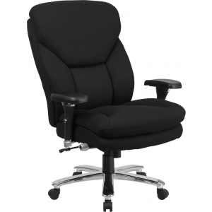 Wholesale HERCULES Series 24/7 Intensive Use Big & Tall 400 lb. Rated Black Fabric Executive Ergonomic Office Chair with Lumbar Knob