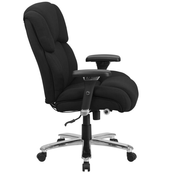 Contemporary 24/7 Multi-Shift Use Office Chair Black 24/7 High Back-400LB