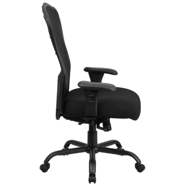 Contemporary 24/7 Multi-Shift Use Office Chair Black 24/7 Use High Back-400LB