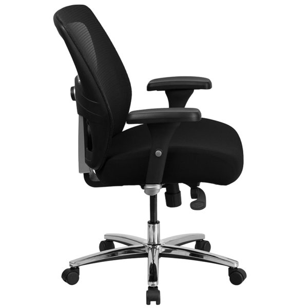 Contemporary 24/7 Multi-Shift Use Office Chair Black 24/7 Use High Back-500LB