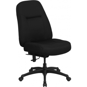 Wholesale HERCULES Series 400 lb. Rated High Back Big & Tall Black Fabric Executive Swivel Ergonomic Office Chair