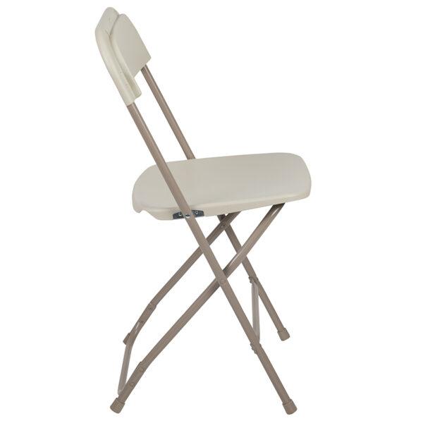 Beige Plastic Folding Chair Beige Plastic Folding Chair