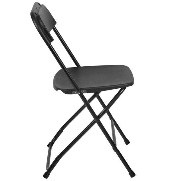 Black Plastic Folding Chair Black Plastic Folding Chair