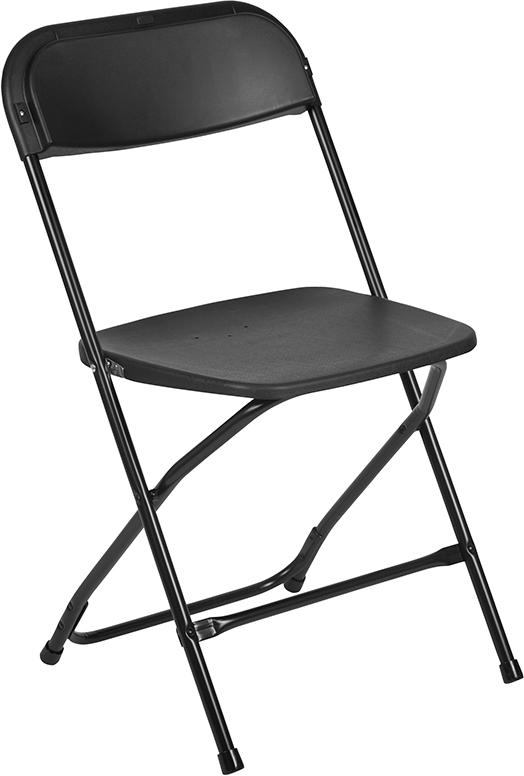 Wholesale HERCULES Series 650 lb. Capacity Premium Black Plastic Folding Chair