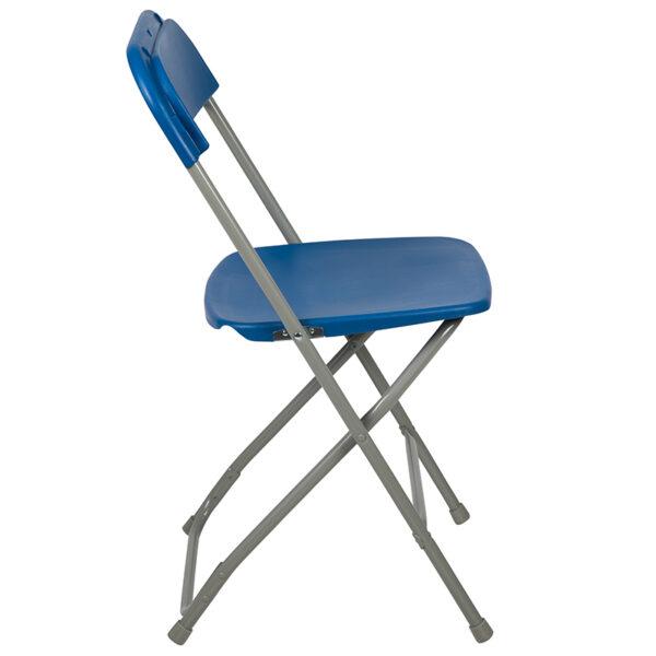 Blue Plastic Folding Chair Blue Plastic Folding Chair