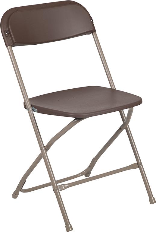 Wholesale HERCULES Series 650 lb. Capacity Premium Brown Plastic Folding Chair