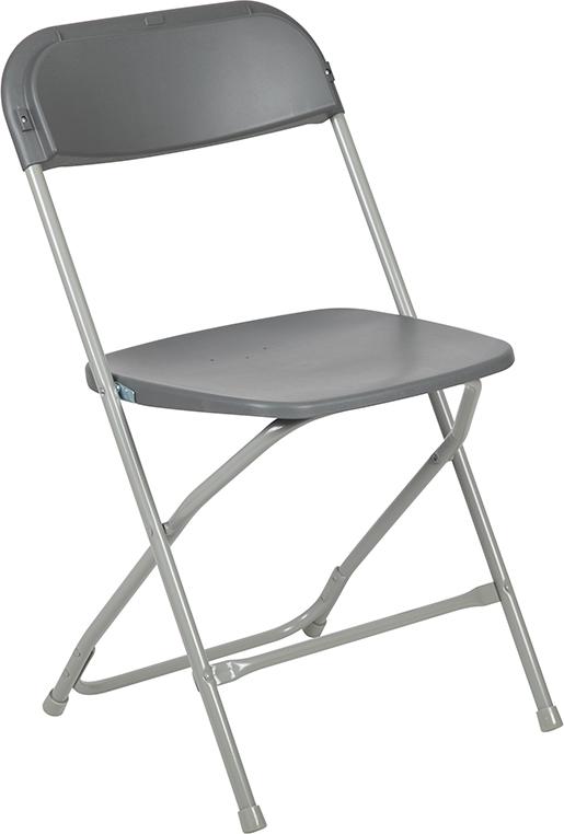 Wholesale HERCULES Series 650 lb. Capacity Premium Grey Plastic Folding Chair