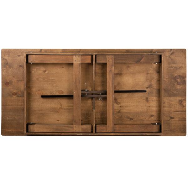 "Rustic Style 7'x40"" Folding Farm Table"
