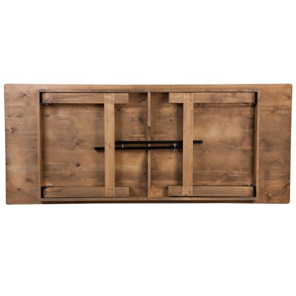 "Rustic Style 8'x40"" Folding Farm Table"