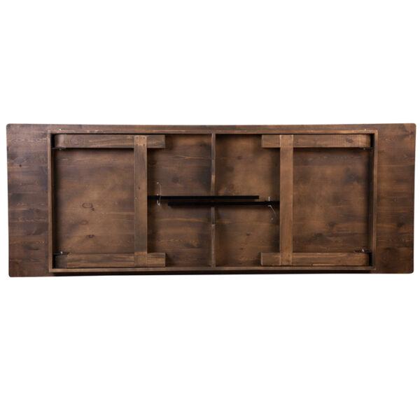 "Rustic Style 9'x40"" Folding Farm Table"