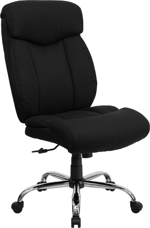 Wholesale HERCULES Series Big & Tall 400 lb. Rated Black Fabric Executive Ergonomic Office Chair and Chrome Base
