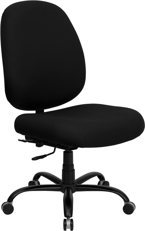 Wholesale HERCULES Series Big & Tall 400 lb. Rated Black Fabric Executive Swivel Ergonomic Office Chair with Adjustable Back