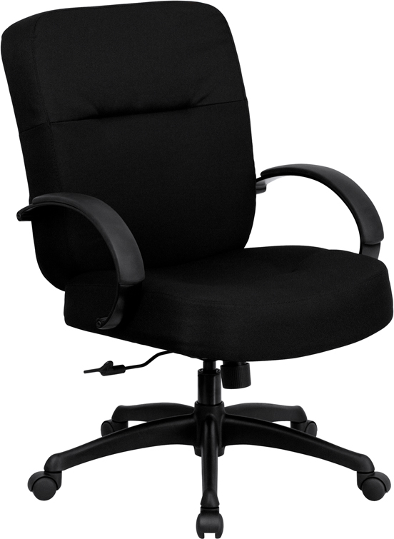 Wholesale HERCULES Series Big & Tall 400 lb. Rated Black Fabric Executive Swivel Ergonomic Office Chair with Arms