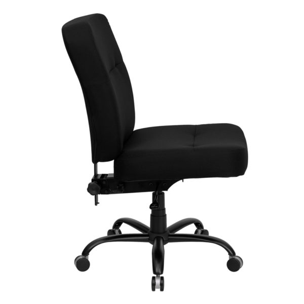 Lowest Price HERCULES Series Big & Tall 400 lb. Rated Black Fabric Executive Swivel Ergonomic Office Chair with Rectangular Back