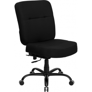 Wholesale HERCULES Series Big & Tall 400 lb. Rated Black Fabric Executive Swivel Ergonomic Office Chair with Rectangular Back