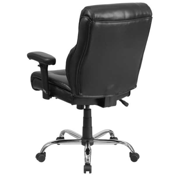 Contemporary Big & Tall Office Chair Black 400LB Mid-Back Chair