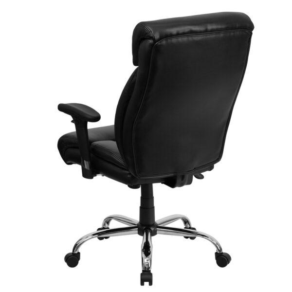 Contemporary Big & Tall Office Chair Black 400LB High Back Chair