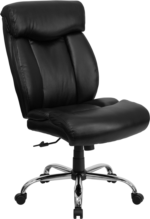 Wholesale HERCULES Series Big & Tall 400 lb. Rated Black Leather Executive Ergonomic Office Chair with Full Headrest