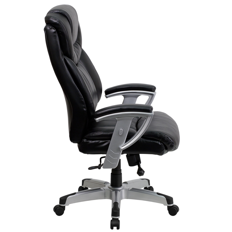 400 Lb Rated Black Leather Executive