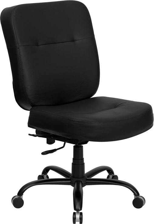 Wholesale HERCULES Series Big & Tall 400 lb. Rated Black Leather Executive Swivel Ergonomic Office Chair with Rectangle Back