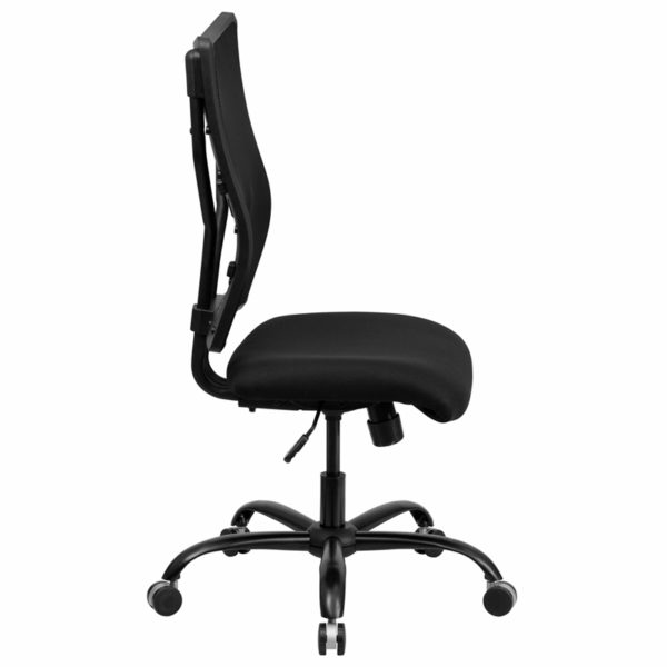Lowest Price HERCULES Series Big & Tall 400 lb. Rated Black Mesh Executive Swivel Ergonomic Office Chair