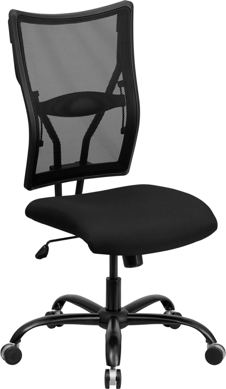 Wholesale HERCULES Series Big & Tall 400 lb. Rated Black Mesh Executive Swivel Ergonomic Office Chair