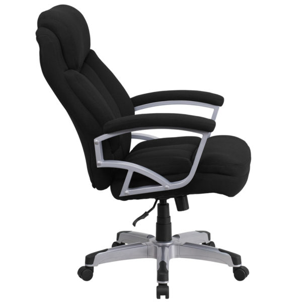 Lowest Price HERCULES Series Big & Tall 500 lb. Rated Black Fabric Executive Swivel Ergonomic Office Chair with Arms