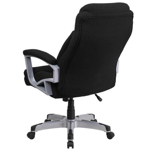 Contemporary Big & Tall Office Chair Black 500LB High Back Chair