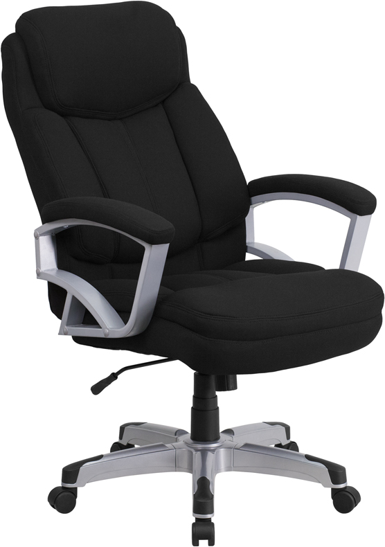 Wholesale HERCULES Series Big & Tall 500 lb. Rated Black Fabric Executive Swivel Ergonomic Office Chair with Arms