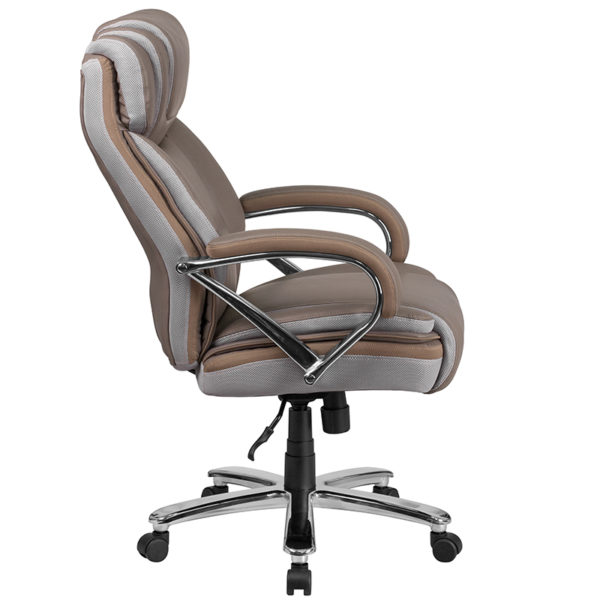 Contemporary Big & Tall Office Chair Taupe 500LB High Back Chair