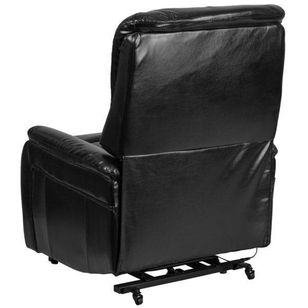 Contemporary Style Black Leather Lift Recliner