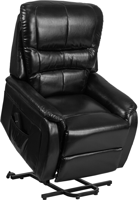 Wholesale HERCULES Series Black Leather Remote Powered Lift Recliner