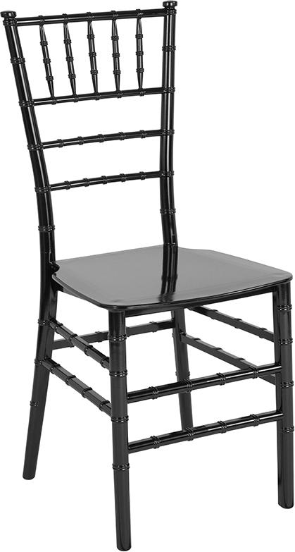 Wholesale HERCULES Series Black Resin Stacking Chiavari Chair